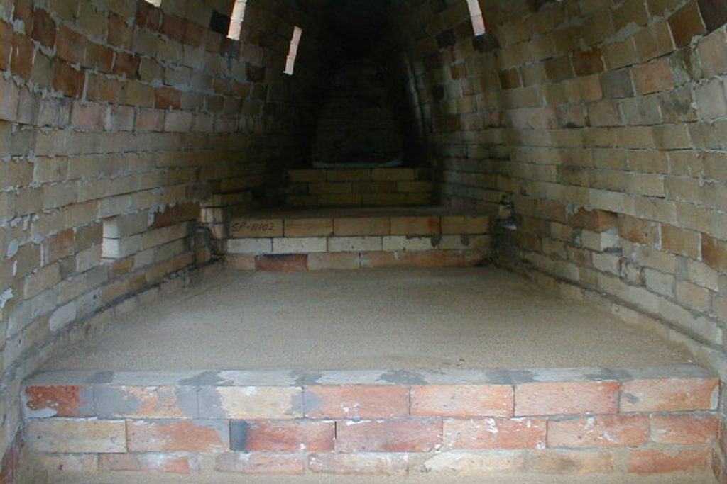 steps in the wood-fired kiln