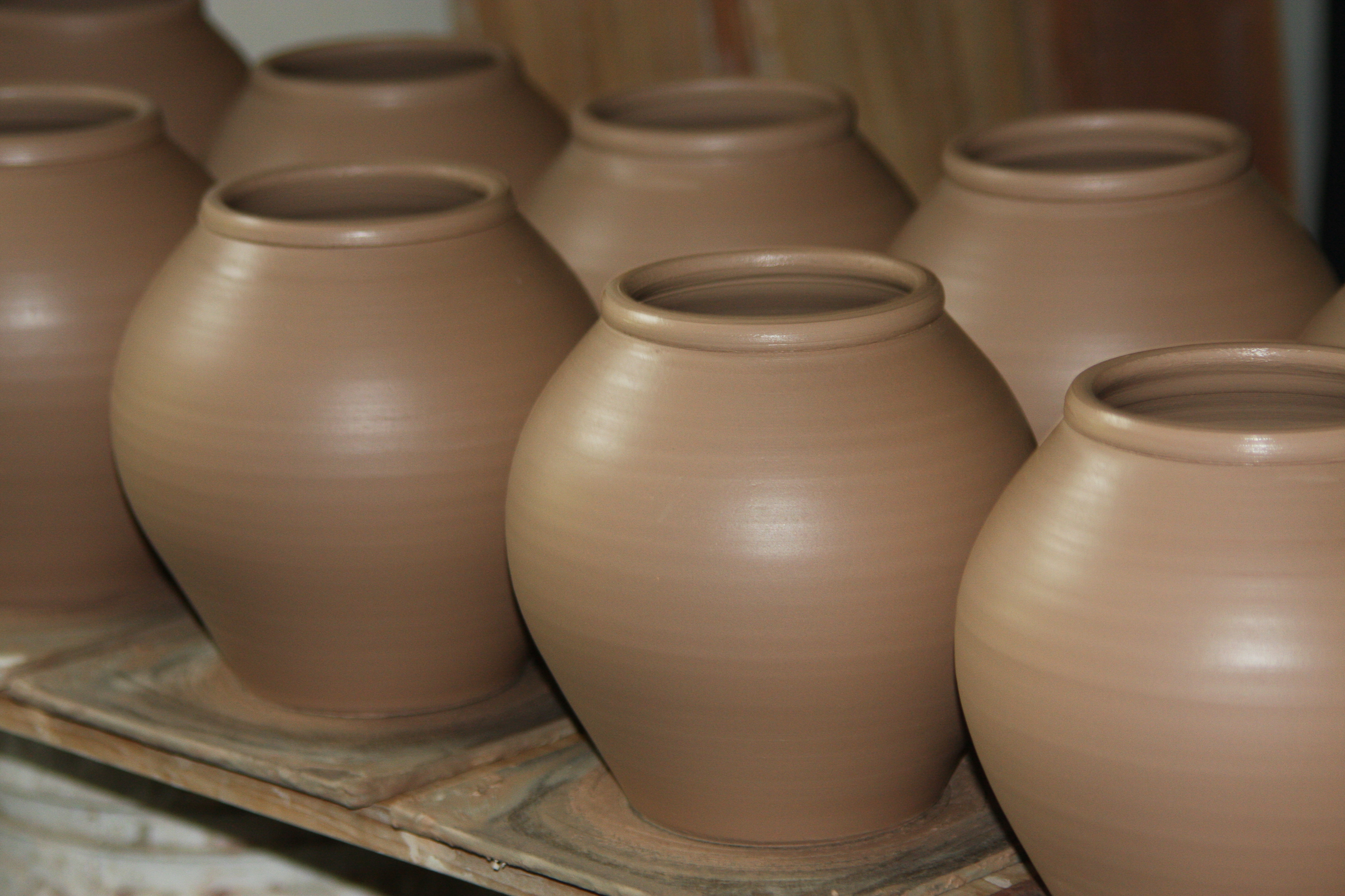 wood-fired pots